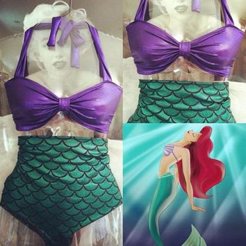 Women's New Mermaid 2pc. Swimsuits Mother/ Daughter Matching
