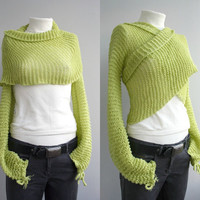 FREE Shipping New Season Pistachio Green Bolero by denizgunes