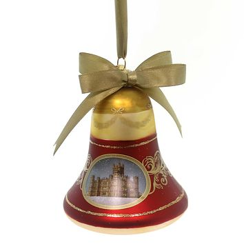 Holiday Ornaments Downton Abby Bell Ornament Glass Ornament