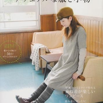 Natural Clothes & Zakka  Goods made of Linen, Cotton Fabric - Japanese Sewing Pattern Book for Women - Pochee Special - B37