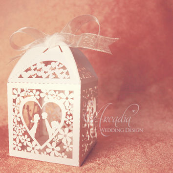 25% Off Sale Valentine's day gift Box Wedding Favor Boxes Sweet Heart kissing Lovers Silhouette DIY Wedding Gift Box Party Favor Candy Box