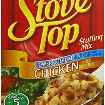 Stove Top Stuffing Mix, Chicken, Low Sodium, 6 oz.Boxes, 12 Count