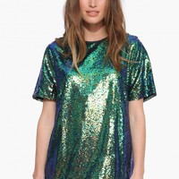 All Sequin Tunic Dress