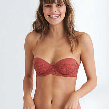 Audrey Strapless Lightly Lined Bra, Deep Burgundy