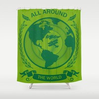 All Around The World Shower Curtain by Berwies