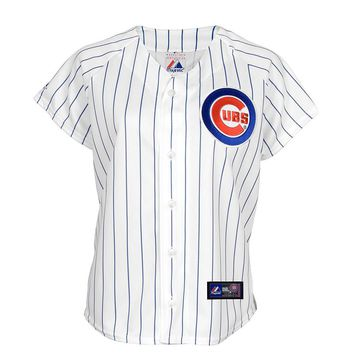 Majestic Chicago Cubs Striped MLB Jersey - Big & Tall, Size: