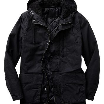 Gap Men Factory Hooded Sherpa Jacket