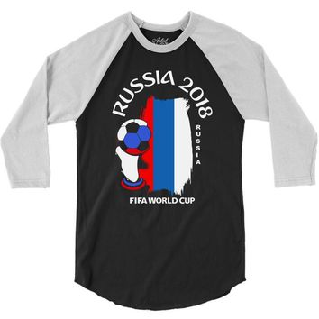 Russia national team youth 2018 fifa world cup 3/4 Sleeve Shirt