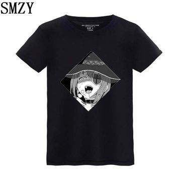 Anime T-Shirt cosplay SMZY Ahegao T-shirt Men Cotton Short Sleeve Summer Cartoon Kawaii Print T Shirt Men Funny Fashion Anime Tee Shirt Men Hip Hop AT_57_4