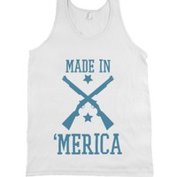 Made-Unisex White Tank