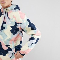 adidas Originals HZA Valley Packable Windbreaker In Blue DN9077 at asos.com