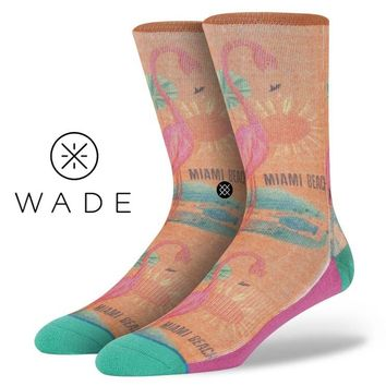 Stance | Flamingo , Aqua, Orange socks | Buy at the Official website Main Website.