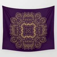 Harmony in Gold and Purple Wall Tapestry by Lena Photo Art