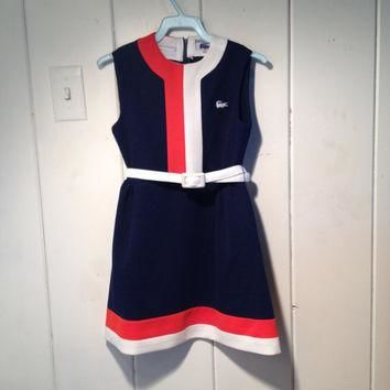 1970s Chemise Lacoste Navy Blue Girls Dress size 8