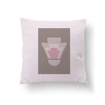 Modern Shapes, Throw Pillow, Geometric Pillow, Cushion Cover, Pink Gray Design, Abstract Design, Home Decor, Decorative Pillow, Simple Art
