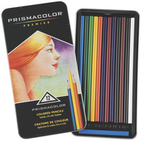 Prismacolor Premier Colored Pencils with Decorative Tin Pack of 12