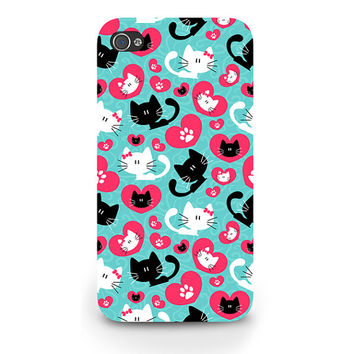 Cute Kittens Pattern Art Print iPhone 5C Case Modern Cat Animals Pets