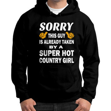 Taken by a super hot country girl Gildan Hoodie (on man)
