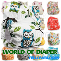 Baby Washable Reusable Real Cloth Pocket Nappy Diaper Cover Wrap, suits Birth to Potty One Size Nappy Diaper Cover Wrap Inserts