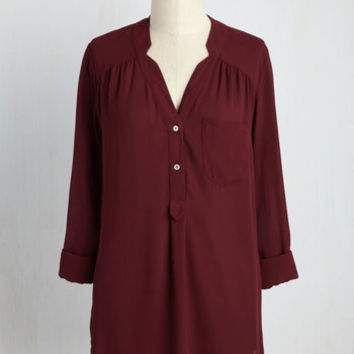 Pam Breeze-ly Tunic in Bordeaux
