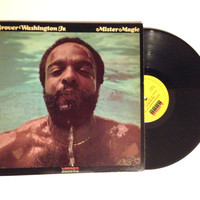 OCTOBER SALE Vinyl Record Grover Washington Jr Mister Magic LP Album 1975 Jazz Fusion Earth Tones