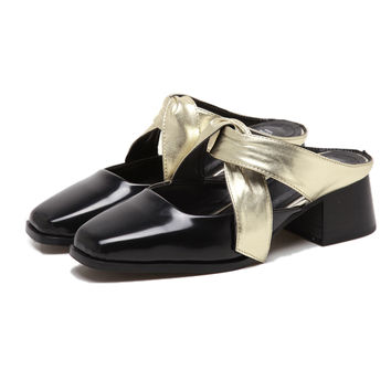 Golden Cross Strap Sliders