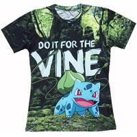 3d t shirts Pokemon Charmander Bulbasaur T-Shirt Do it for the Vine tshirt Summer style tees tops women men Free shipping