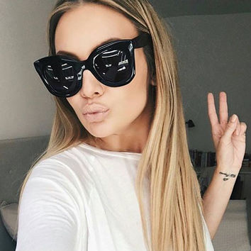 RSSELDN Latest Women Cat Eye Sunglasses Brand Design Vintage Round Lenses Fashion Multicolor Frame Sunglasses UV400 D1152