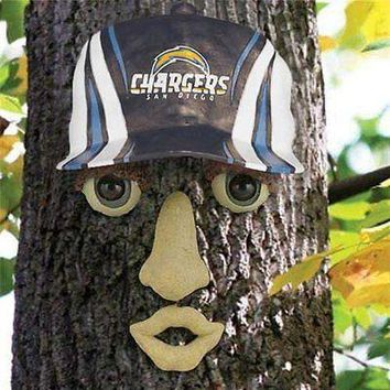 San Diego Chargers NFL FOREST FACE Yard/Tree GARDEN Decoration