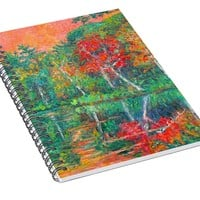 Fall Reflections At Peaks Of Otter Spiral Notebook for Sale by Kendall Kessler