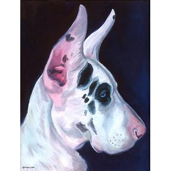 Great Dane Harlequin Flag Canvas House Size 7386CHF
