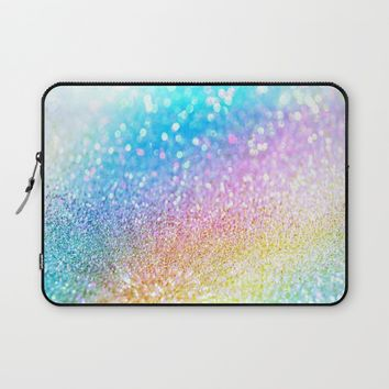 rainbow glitter Laptop Sleeve by Haroulita
