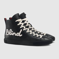 GUCCI Blind for Love high-top Leather Sneaker