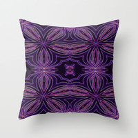 Etched Flower Throw Pillow by 2sweet4words