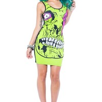 Zombie Chomper Tank Dress ❤ Green