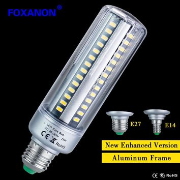 Foxanon Honest Wattage Lumen 5W 7W 9W 15W 20W 25W LED lamp Corn Bulb 110V 220V E27 E14 Aluminum Cooling 5736 LED Spot light