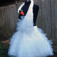 Custom Made Bjork Swan Party Dress Halloween Costume by lauralyn