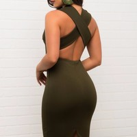 Love At First Sight Dress - Olive