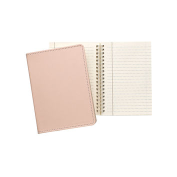 "Nude French Calfskin Leather  7"" Wire-O-Notebook"
