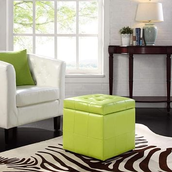 Light Green Volt Storage Ottoman