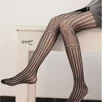 Linear and Lattice Tights Black Onesize