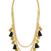 Women's BaubleBar 'Grenada Stands' Tassel Necklace