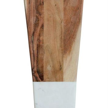 Marble and Acacia Wood Cutting Board -- 19-in
