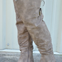 Risky Business Boots: Taupe