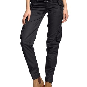 Surplus Raw Vintage Women`s cargo pants Ladies Premium Trousers Slimmy