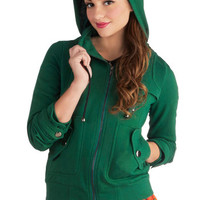 Leipzig Hoodie in Emerald | Mod Retro Vintage Jackets | ModCloth.com