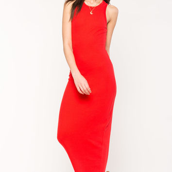 Slim Ribbed Maxi Dress