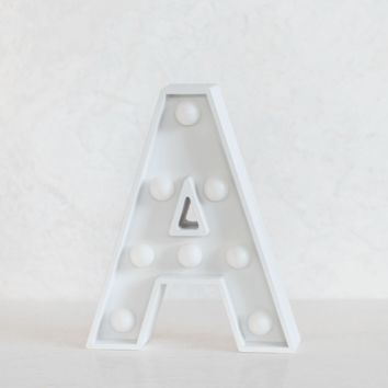 A Initial White Marquee Light