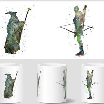 Legolas mugen The Lord of the Rings mugs Gandalf home decal tea coffee  ceramic mugen novelty porcelain cups