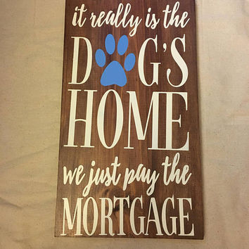 Dog House Wood Sign, dog Sign, wood sign, cute gift, wall decor, sign, cute sign, wall plaque